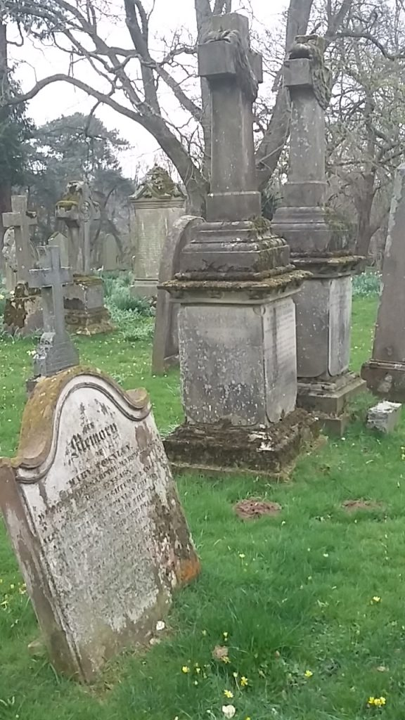 Hannah, Elizabeth and niece Mary Townley Headstone (foreground) Brampton Old Churchyard photo taken M Dean 7 April2019