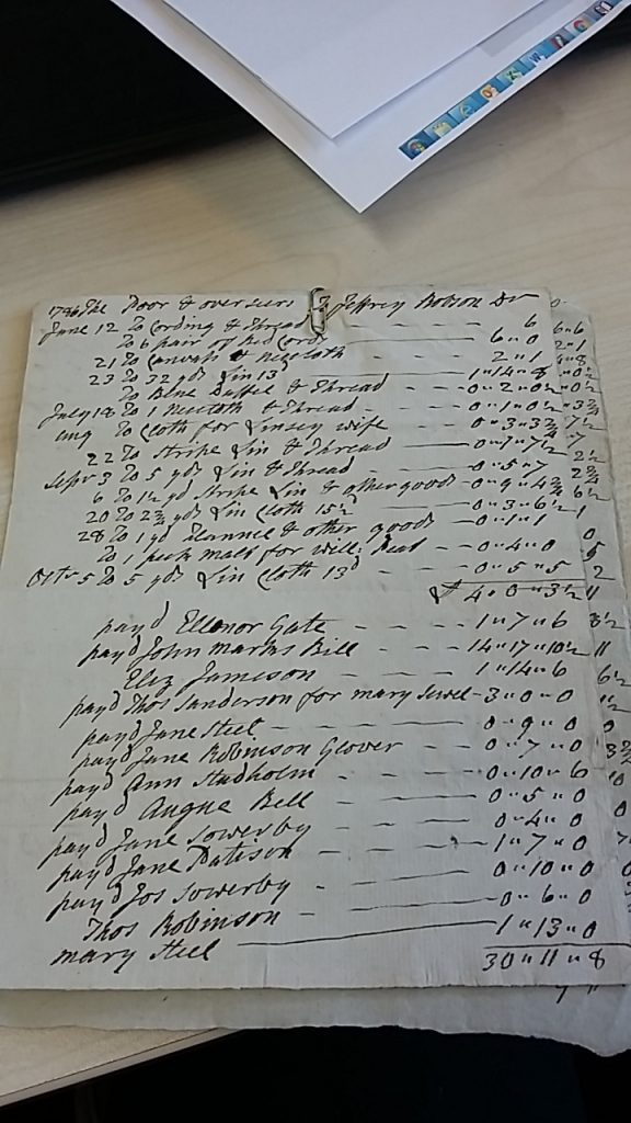 SPC 44/2/53 Dalston workhouse Account Book 1746-1775