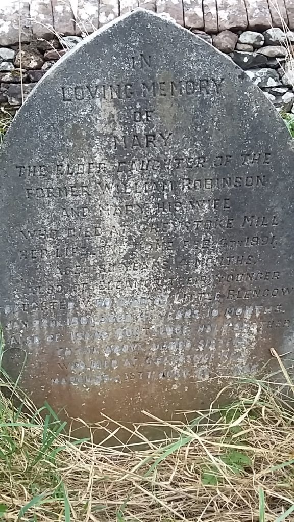 Memorial to Mary and Eleanor Robinson and Isaac Routledge daughters and Stepson William Robinson